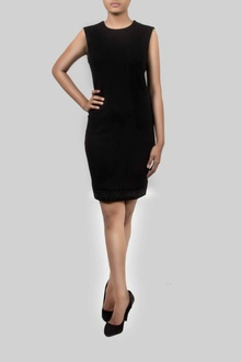 SHEATH DRESS W/ SEQUIN BORDER
