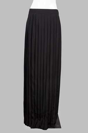 Pleated Maxi Skirt-2-S000PL